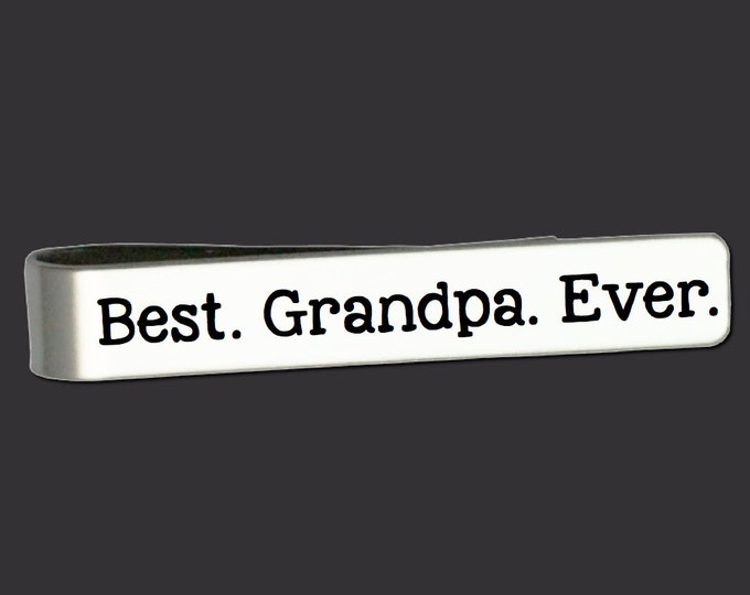 Best Grandpa Ever | Grandpa Gifts | Gifts for Grandfather | Fathers Day Gifts | Gifts for Dad | Personalized Gifts | Personalized Tie Bar