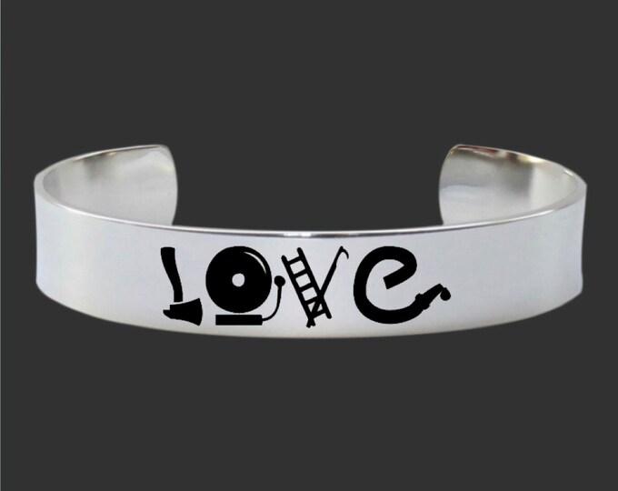 Fireman Jewelry | Fireman Love | Fireman Gift | Custom Personalized Bracelet Korena Loves