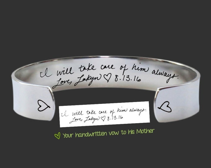 Mother Gift | Mother In Law | Mother In Law Gift | Mother of the Groom | Wedding Gift | Handwriting Jewelry | Quotes | Korena Loves