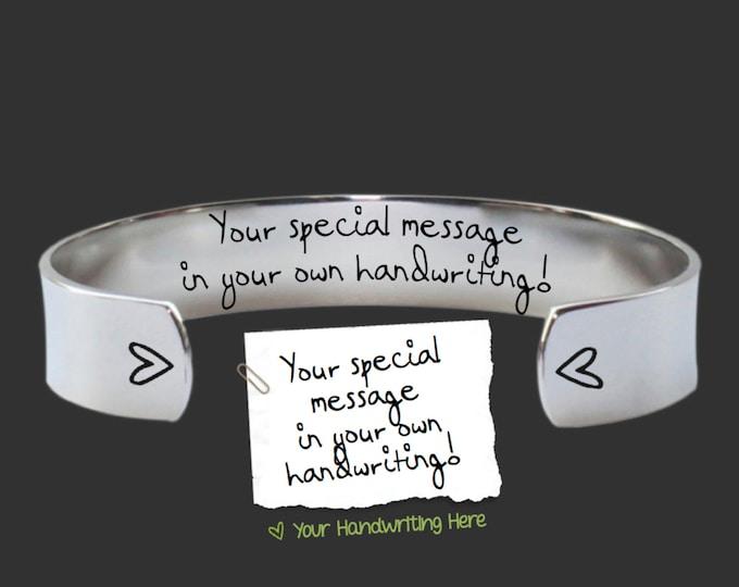 Handwriting Jewelry | Handwriting Bracelet | Design Your Own Bracelet | Handwriting Gift | Personalized Gifts | Korena Loves