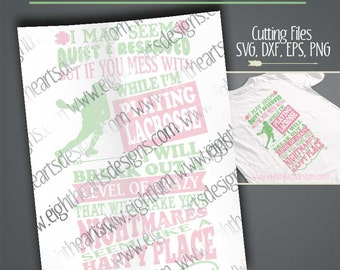I may seem...Lacrosse - Great for Tshirts and Tanks - Cutting file - svg, png, dxf & eps designs