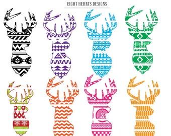 Deer Heads - Aztec SVG