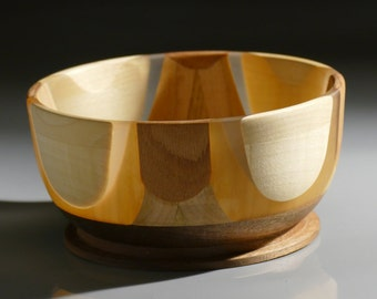 Unique Hand turned   Bowl, lovely centerpiece, food safe ,gift for him