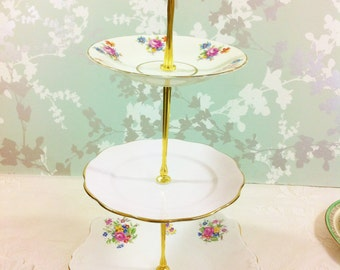 Items Similar To 3 Tier Cake Stand With Matching Cup