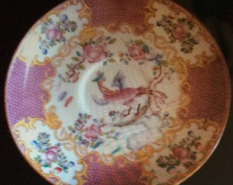Minton England hand painted pink plate saucer pattern 9646
