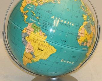 "Vintage Nystrom Readiness Globe 16"" COLD WAR ERA"