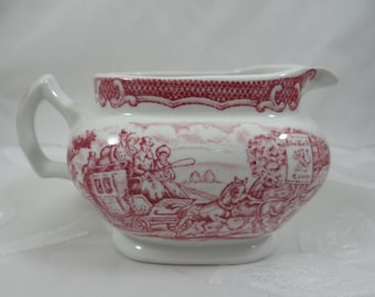 "Vintage Woods & Sons England ""The Post House-Pink"" Creamer"