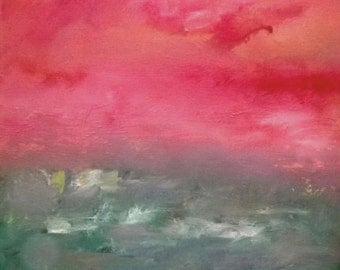 Original Abstract Landscape Oil Painting - LIMITED EDITION Print - Signed and Numbered - Free Shipping