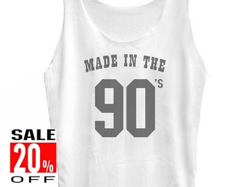 Made In The 90s tank top vintage tee women tank top men tee singlet size S M L