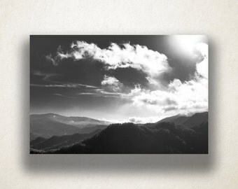 Black and White Mountain View Canvas Art, Mountain Range Wall Art, Mountain Canvas Print, Photograph, Canvas Print, Home Art, Wall Art