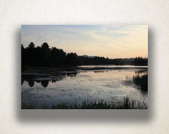 Lake Silhouette Canvas Art, Lake at Dusk Wall Art, Lake Canvas Print, Nature Wall Art, Photograph, Canvas Print, Home Art, Wall Art Canvas