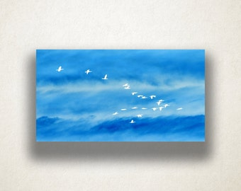 Simple Birds Canvas Art, Ocean Wall Art, Sky Scene Canvas Print, Artistic Wall Art, Photograph, Canvas Print, Home Art, Wall Art Canvas