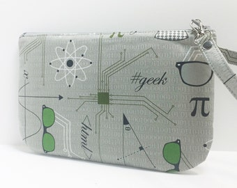 Square Wristlet / pouch - Big bang Theory  inspired