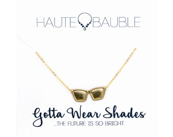 Summer Sunglass Pendant Necklace