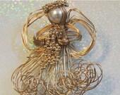 SPRING PRICE BREAK Angel Artisan Brooch Wire Pearl Beads