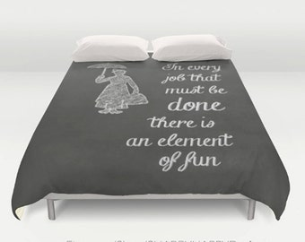 Element of Fun Chalkboard Art Childrens Room  / Duvet Comforter Cover Bedding Art  / 2nd ships FREE! / Sizes Full, Queen ( XL Twin) , & King