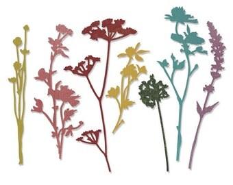 Sizzix - Tim Holtz Alterations - Thinlits - Wildflowers Die Set 7 Pack
