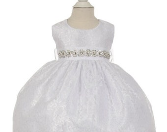 Baby Girl Christening Dress Baby Baptism Dress White baby dress white baptism dress toddler baptism dress Toddler Christening gown