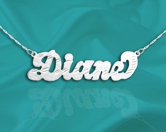 Name Necklace Sterling Silver - Handcrafted Personalized Name Necklace - Made in USA