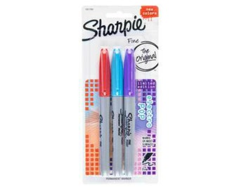 Sharpie 3 count Electro pop permanent markers