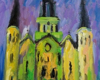 New Orleans Art original French Quarter original art impressionist painting landscape original art