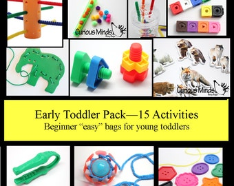 15 toddler busy bags - Educational toy and learning games