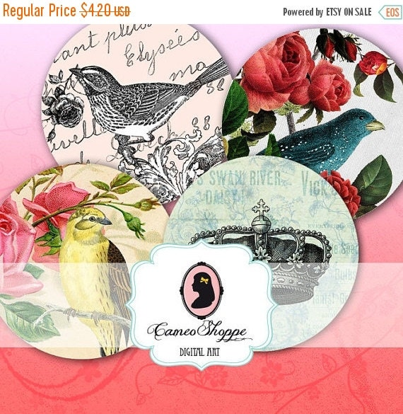 75% OFF SALE 2 inch Circles Digital Download SHABBY Memories Digital Collage Sheet for Magnets Buttons Stickers or Hang Gift Tags Digital do