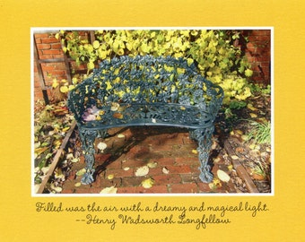 "Henry Wadsworth Longfellow quote ""Filled was the air..."" - photo card"