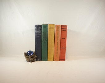 Shabby Chic Colorful Books - 1930s - Great Reading!