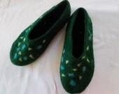 slippers, felted slippers, wool slippers, handmade slippers