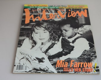 INTERVIEW Magazine April 1994. Mia Farrow.120 pages Printed in USA