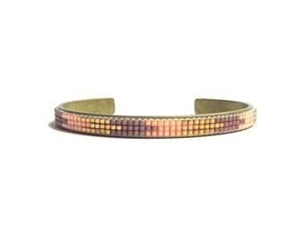 Skinny bead loom bracelet cuff - friendship bracelet, loom bracelet, native bracelet, ethnic bracelet, boho bracelet, minimalist bracelet