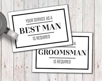 Groomsmen Card, Best Man Proposal, Best Man Card, groomsmen proposal card, groomsman invitation, groomsman card printable, instant download