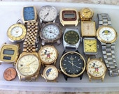 Lot of 16 Watches, Vintage Watches, Wind Up, Quartz Battery, Analog, Digital, None Are working, For Repair, No Returns on this lot