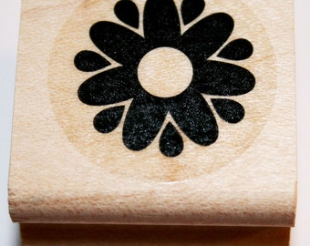 Solid Flower Rubber Stamp from Stampin Up