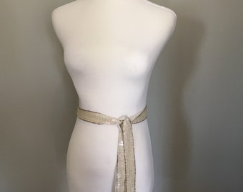 Vintage Sequin Beaded Belt/Sash