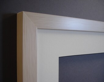 8 x 10 white wood grain finish handmade photo frame photo art shadowbox
