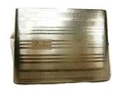 Vintage Cigarette Case / Art Deco Design / Signed Evans / Silver Tone Metal / Etched and Shiny Stripes / Monogram Case / 1950's