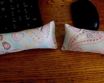 Paisley Keyboard Wrist Rest, Aqua Mouse Wrist Rest