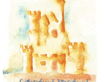 Sand Castle - Greeting card