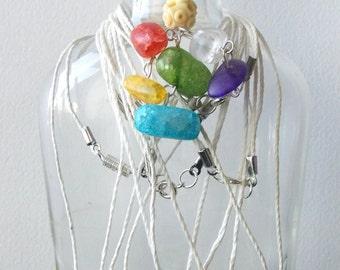 Colorful Rock Necklaces