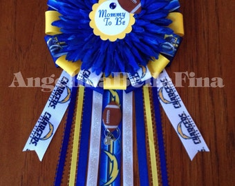 SALE Chargers Themed Mommy To Be Corsage
