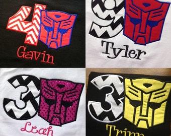 Transformer Birthday Shirt -Boy or Girl