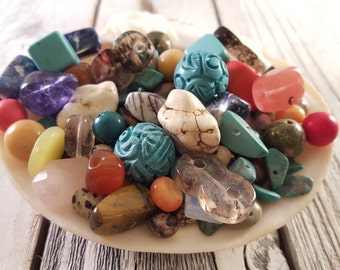 Mixed Gemstone Beads Mixed Size Assorted Color
