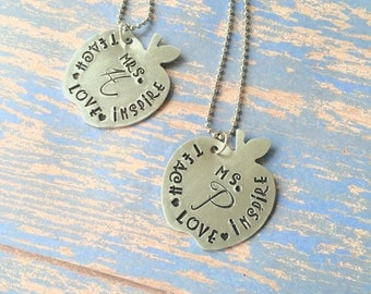 It takes a big heart to teach little minds necklace, Preschool teacher gift, teacher gift, kindergarten teacher gift, love, teach, inspire