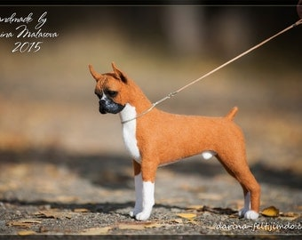 German boxer. Needlefelting.