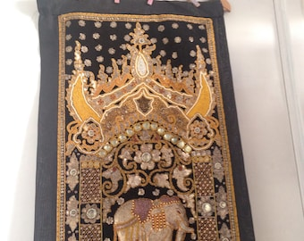 Elephant fiberart