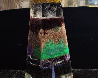 Fully polished Orgone Energy Obelisk