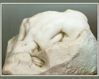 Artist Auguste Rodin Fridge Magnet, sculpture titled A Danaid, 1885