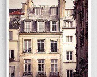 Paris photography - Rue Bachaumont - Paris facade,Paris photo,Fine art photography,Paris decor,8x10,white,Fine art prints,Art Posters